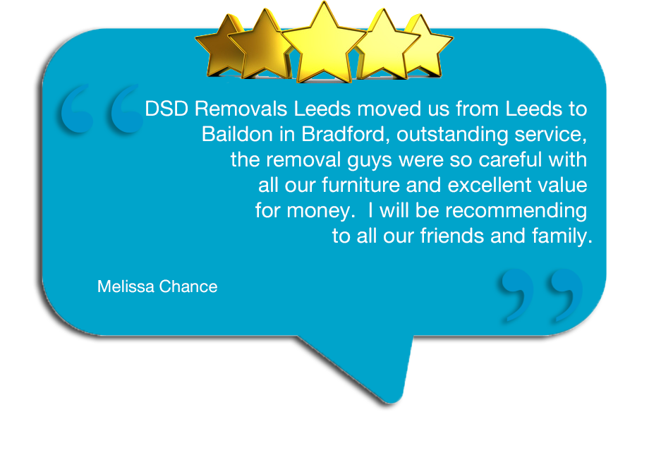 Removal Companies Leeds - Testimonial